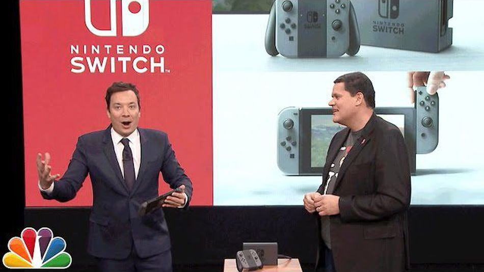 Jimmy Fallon On The Tonight Show Premiering The Nintendo Switch