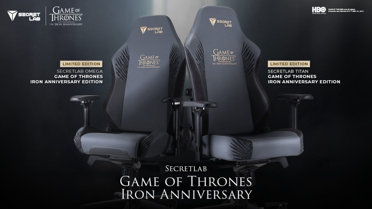 Secretlab Has Produced A Limited-Edition Collaboration With Game Of Thrones For The Show'S Tenth Anniversary, Featuring The Iconic Iron Throne.