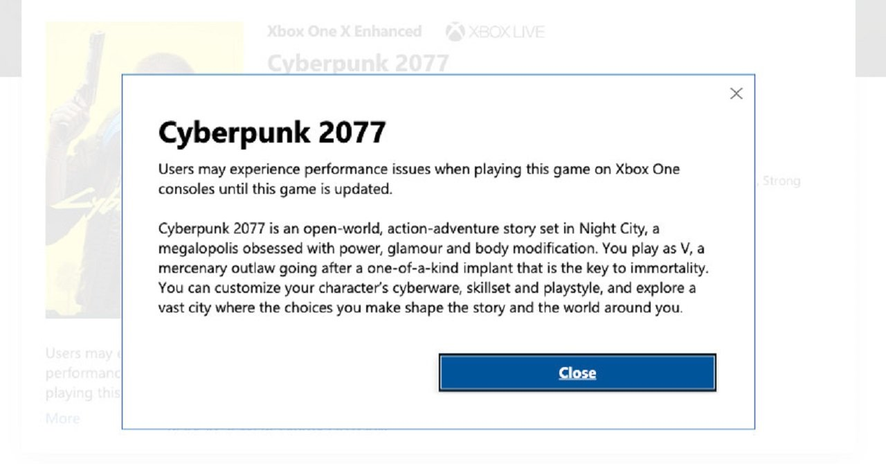Xbox Is Ending Its Cyberpunk 2077 Special Refund Policy