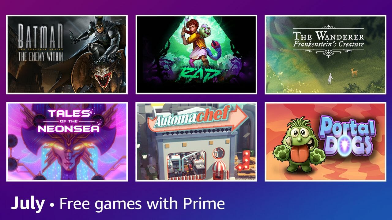 Amazon Announces Prime Gaming'S July Free Games And Content