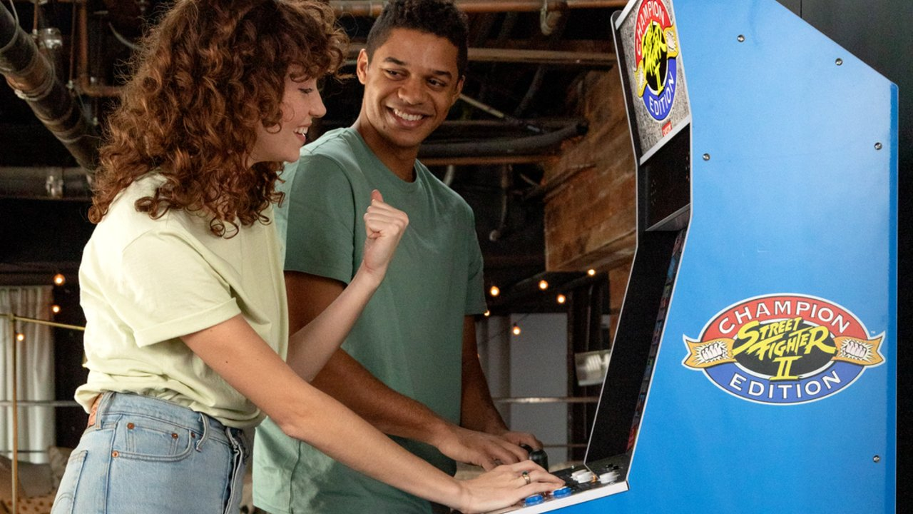 Arcade1Up'S New Offering Of Arcade Cabinet Recreations, Revealed At E3, Includes The Street Fighter Ii Big Blue Arcade Machine, Packed With Twelve Capcom Classics.