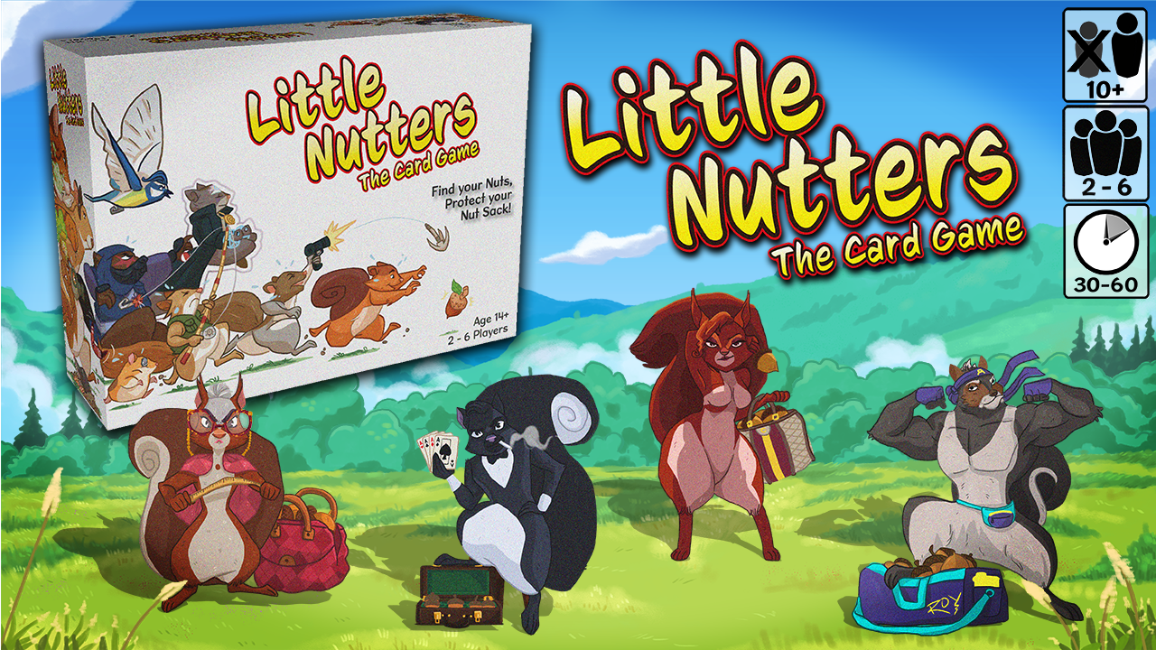 Little Nutters, A Playful Card Game About Squirrel Competing For Food, Is Launching On Kickstarter Next Week.