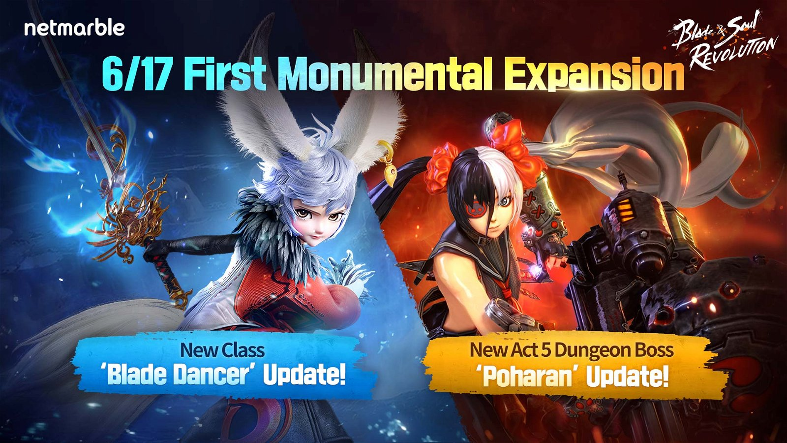 Blade and Soul Revolution Gets Its First Major Update