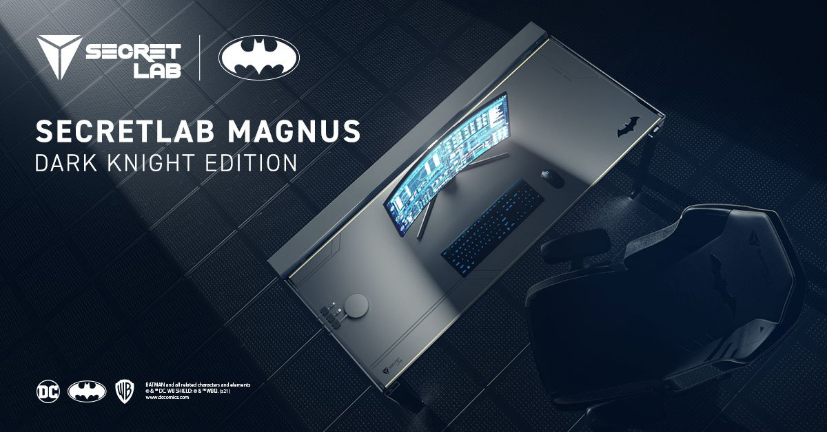 Secretlab And The Dark Knight Team Up With A Special Magnus Desk