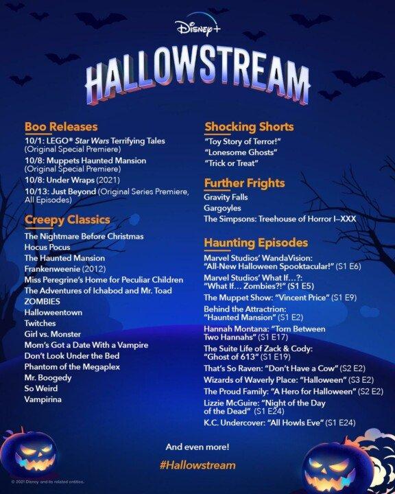 Disney+ Kicks Off Spooky Season With Hallowstream Celebration